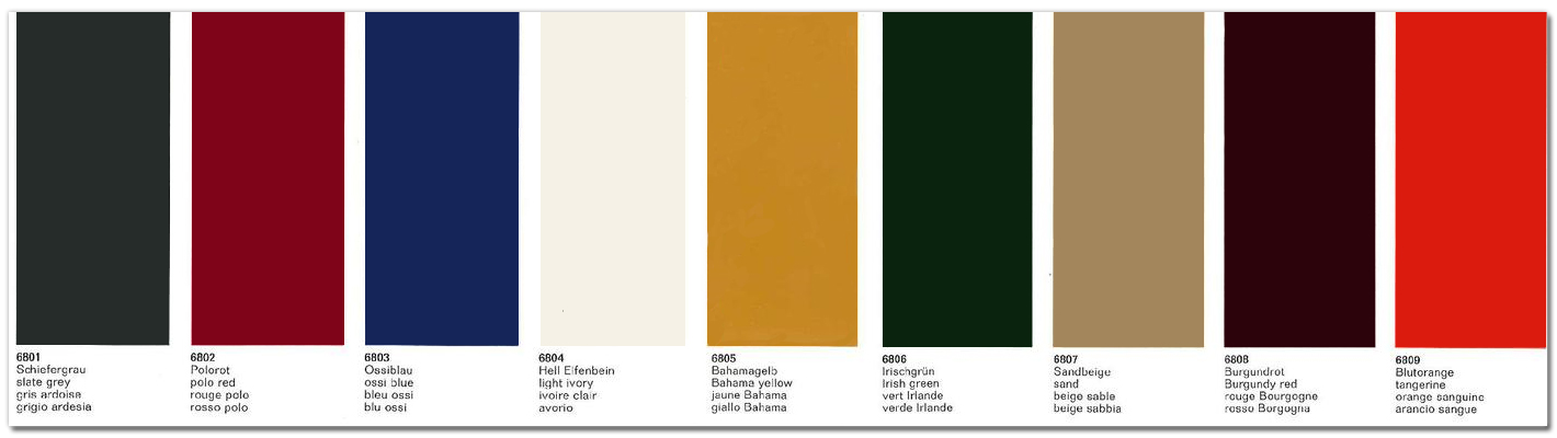 PCA 912 & 912E Register - Porsche Standard Paint Colors 1964-1969 & 1976